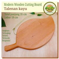 Talenan kayu unik 35x19 modern Cutting board Chopping board kayu
