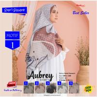 Jilbab Segi Empat Aubrey Jumbo Syari French Motif 1 by Azzura Scarf
