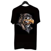 gudangbaju-BF042 Kaos Distro Pria T-Shirt Pria Kaos Pria Burung Gagak - Navy, L