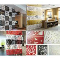 Penyekat Ruangan Vintage 3D PVC Tirai Gantung Partisi Hiasan Dinding
