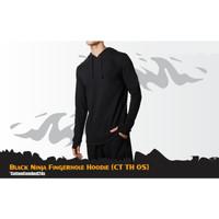 Kaos Ninja Fingerhole Black Hoodie T-shirt Polos Costum CT TH 05