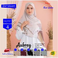 Jilbab Segi Empat Big Size Aubrey Jumbo Syari Motif 4 By Azzura Scarf