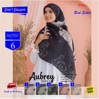 Jilbab Segi Empat Aubrey Jumbo Syari French Motif 6 by Azzura Scarf