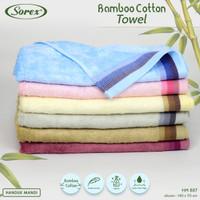 Sorex Handuk Mandi Dewasa Cotton Bamboo Lembut Daya Serap Tinggi HM887