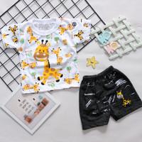 [LL GIRRAFE] setelan baju anak anak motif jerapah celana levis