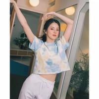 Baju Tshirt Tiedye Tshirt Crop Anak Remaka Model Casual Terkini