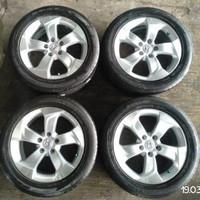 pelek-velg ban mobil seken oem Honda HRV ring 17+ban Dunlop 215/55/17