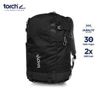 TORCH TAS RANSEL LIGHT TRAVEL BACKPACK SHIOJIRI 30L - MIDNIGHT BLACK