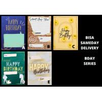 Kartu Ucapan Happy Birthday Ulang Tahun - Hang Tag - Hampers Card