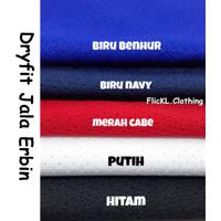 Bahan Kain Kaos Baju Dryfit Dry Fit Jala Erbin Olahraga Jersey Basket
