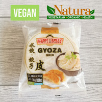 Happy Belly Kulit Gyoza Skin 10cm 300gr Vegetarian Vegan Beku