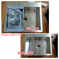 Bak Cuci Piring Stainless Kitchen Sink Cuci Piring westafel Cuci 52cm
