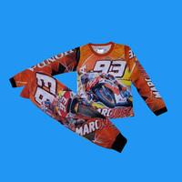 setelan baju Repsol Jersey moto GP Honda anak size 2-10thn