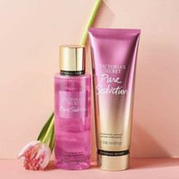 victoria secret pure seduction body mist + lotion