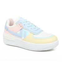 PVN Kara Sepatu Sneakers Wanita Sport Shoes Candy Pink White Blue 372