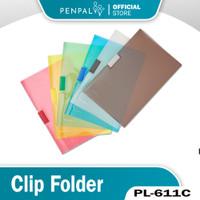 Penpal Clip Folder PL-611C [6 Pcs]