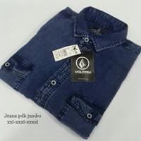 Kemeja Jeans Pria Pendek Jumbo / Kemeja Jumbo Big Size XXL-XXXL