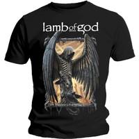 Baju Kaos Band Lamb of God Men's Winged Death Slim Fit T-Shirt Black