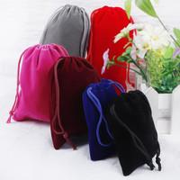 Pouch serut bahan kain beludru/kantong serut untuk souvenir/aksesoris
