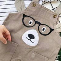 Glasses Bear Chinos Overall, baju anak laki2 /baju bayi laki-laki