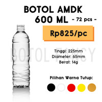 Botol 600ml / Botol Plastik 600ml / Botol Air / Botol AMDK [72 pcs]
