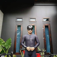 Baju Sepeda Climber's Black Sxb Sultan Elite Road Bike Jersey Gowes Mt