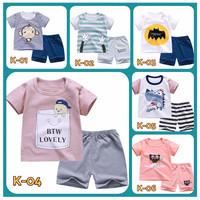 Baju Kaos Rumahan/setelan Impor-Laki/Perempuan Balita 0-3 tahun - 110