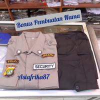 Setelan Baju seragam security satpam PDL Terbaru