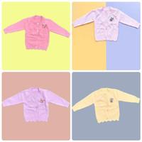 Baju Sweater Rajut Cardigan Atasan Anak Perempuan Import Real Pic No10 - Soft Pink, SIZE 4