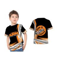 2S5 - Baju Kaos Tshirt Anak Motor KTM Racing 01 Fullprint Custom - S - S