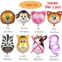 Balon Foil Animal Head Size L / Kepala Hewan Binatang Animal Large - Lion