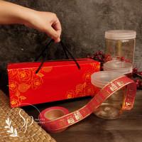 box/dus/packaging toples jar kue kering imlek CNY PB RED ROSE