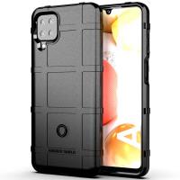 Armor Shield TPU Case Samsung Galaxy A12 - Casing Black Soft Cover Fit
