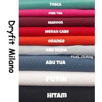 Bahan Kain Kaos Baju Jersey Dry Fit DryFit Olahraga Milano ZigZag