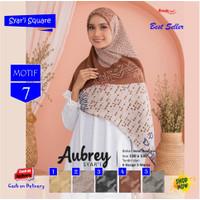 Jilbab Segi Empat Aubrey Jumbo Syari French Motif 7 by Azzura Scarf