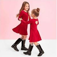 BAJU DRESS PLACE RED SIMPLY ELEGANT ANAK PEREMPUAN GIRLS