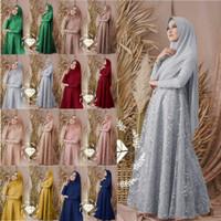 Setelan Syari Wanita Bergo Baju Gamis Terbaru Khimar Longdress Hijab