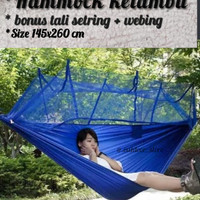 hammock ayunan kemlambu outdoor ''serba guna anti nyamuk