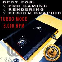 Custom Turbo Cooling Pad Laptop 8.000 RPM Coolingpad Fan pendingin