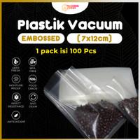 Plastik Vacum Sealer Makanan Vacuum Bag Vakum 7x12 cm EMBOSSED EMBOSS