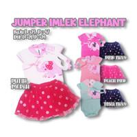 Baju bayi perempuan Jumper Bayi Cheongsam Imlek Elephant Free Bandana