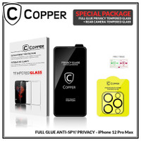 iPhone 12 Pro Max - Bundling Tempered Glass PRIVACY SPY + TG Kamera