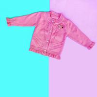 Baju Sweater Rajut Cardigan Atasan Anak Perempuan Import Real Pic No 7 - Dusty Pink, SIZE 4