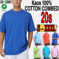 KAOS POLOS KATUN 20s/Size S - XXXL/JUMBO/Kaos Pria/Distro/Premium