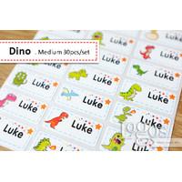 Dinosaurus MEDIUM. Special edition. Sticker label nama anak waterproof
