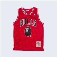 Baju Kaos Jersey Basket Classic NBA Chicago Bulls X BAPE Special