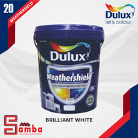 DULUX WEATHERSHIELD BRILLIANT WHITE 20 LTR / CAT TEMBOK EXTERIOR