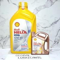 Shell Helix HX6 10W-40 1 Liter SN Plus (Oli Mesin Synthetic)