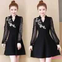 Import Classy Cheongsam Modern Plus Size Big Jumbo Dress Pesta Imlek