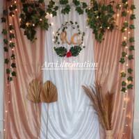 paket dekorasi backdrop background lamaran / akad nikah (DIJUAL)